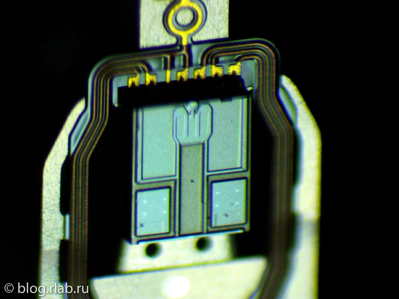 Фото головок жесткого диска Seagate, микроскоп