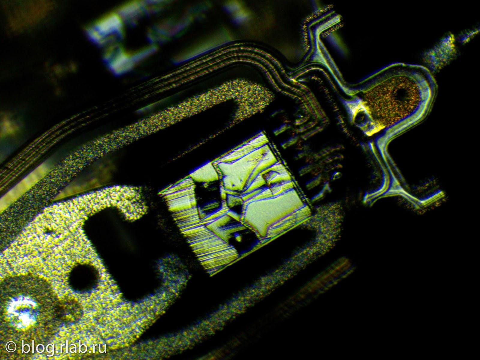 Фото головок жесткого диска WD, микроскоп