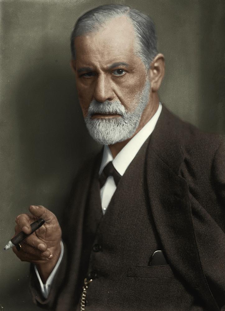 Зигмунд Фрейд, цветное фото